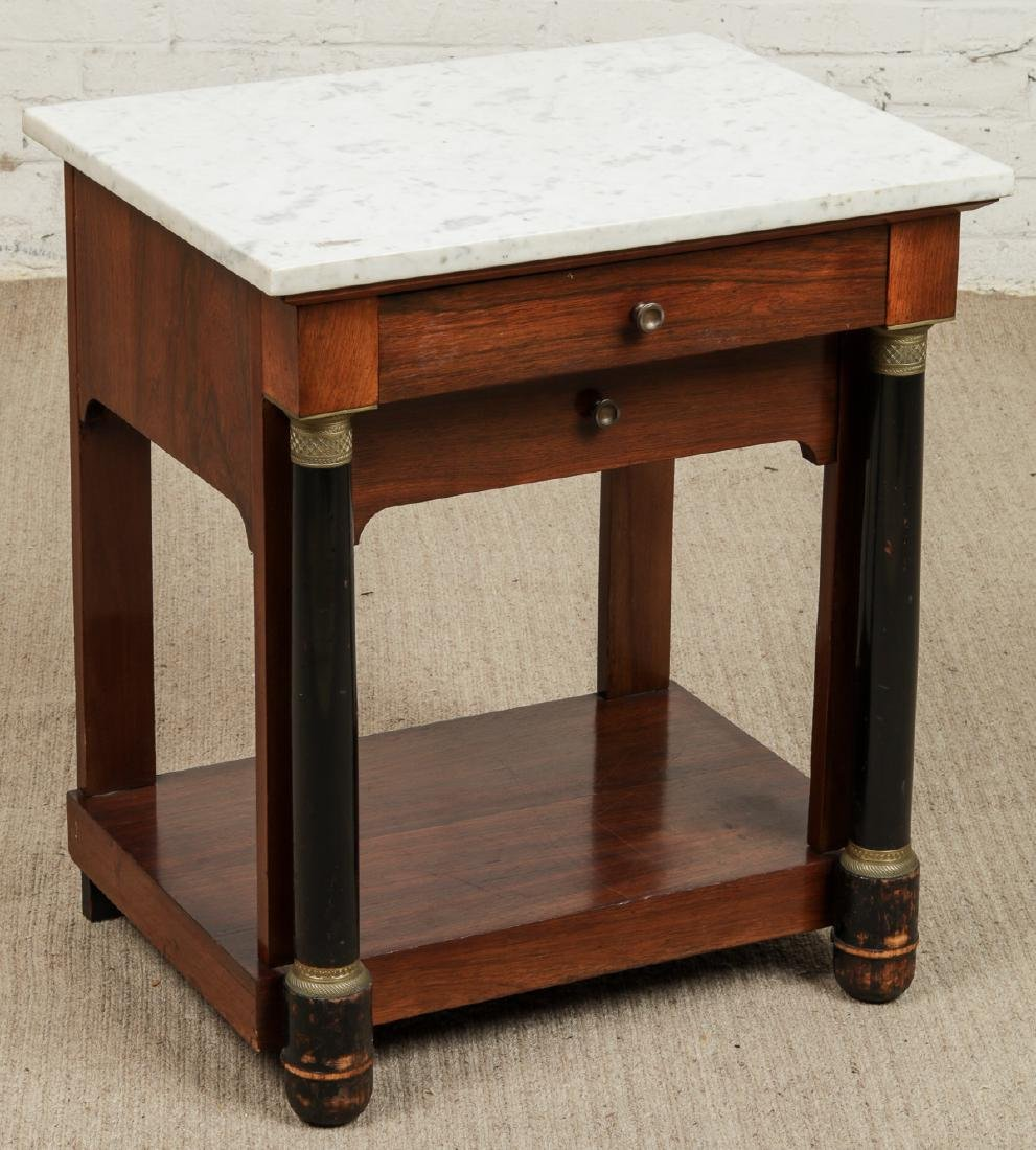 Continental Marble Top Side Table