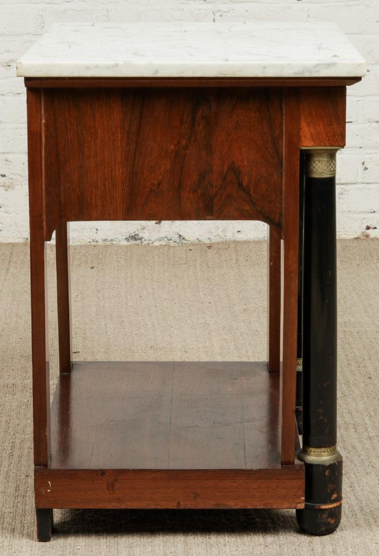 Continental Marble Top Side Table - 2