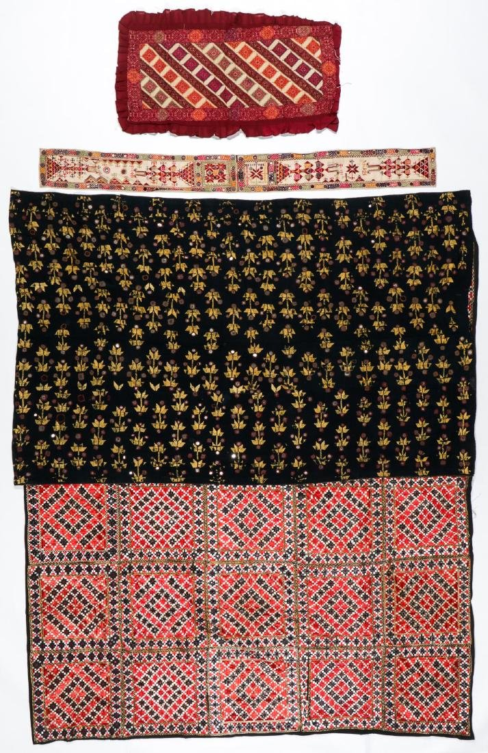 Lot of old Indian/Pakistani embroidered textiles