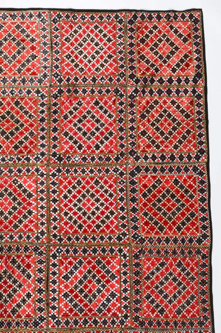Lot of old Indian/Pakistani embroidered textiles - 3