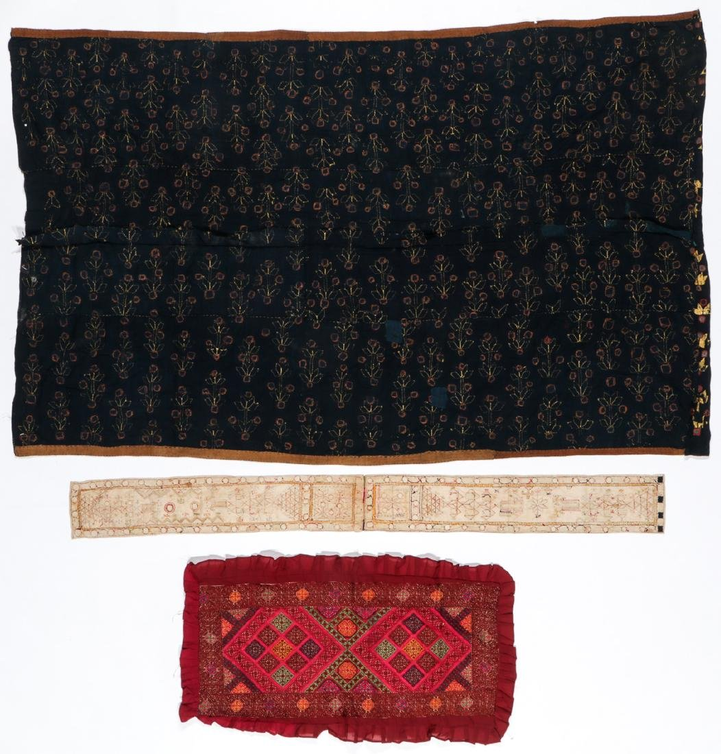 Lot of old Indian/Pakistani embroidered textiles - 7