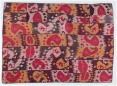 Antique Central Asian Silk Ikat Panel