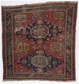 Antique Sumak Rug, Caucasus: 6'7'' x 6'7''