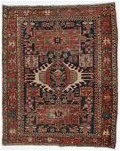 Antique Karadja Rug, Persia: 3'8'' x 4'6''