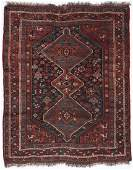 Antique Gashgai Rug, Persia: 4'4'' x 5'5''