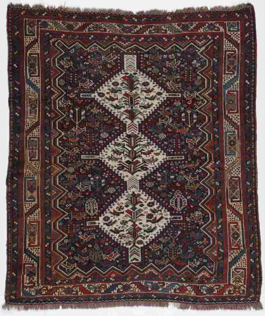 Antique Gashgai Rug, Persia: 5'0'' x 5'9''