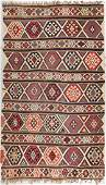 Antique Shirvan Kilim, Caucasus: 5' x 8'3""