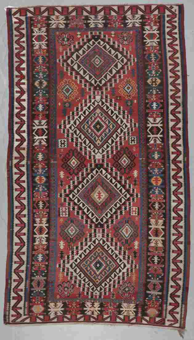 Antique Kuba Kilim, Caucasus: 6'0'' x 10'7''