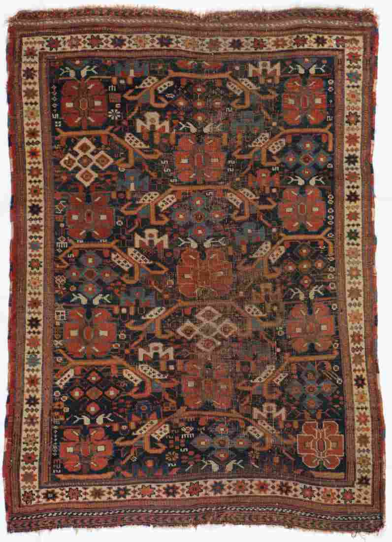 Antique Afshar Rug, Persia: 3'7'' x 4'11''