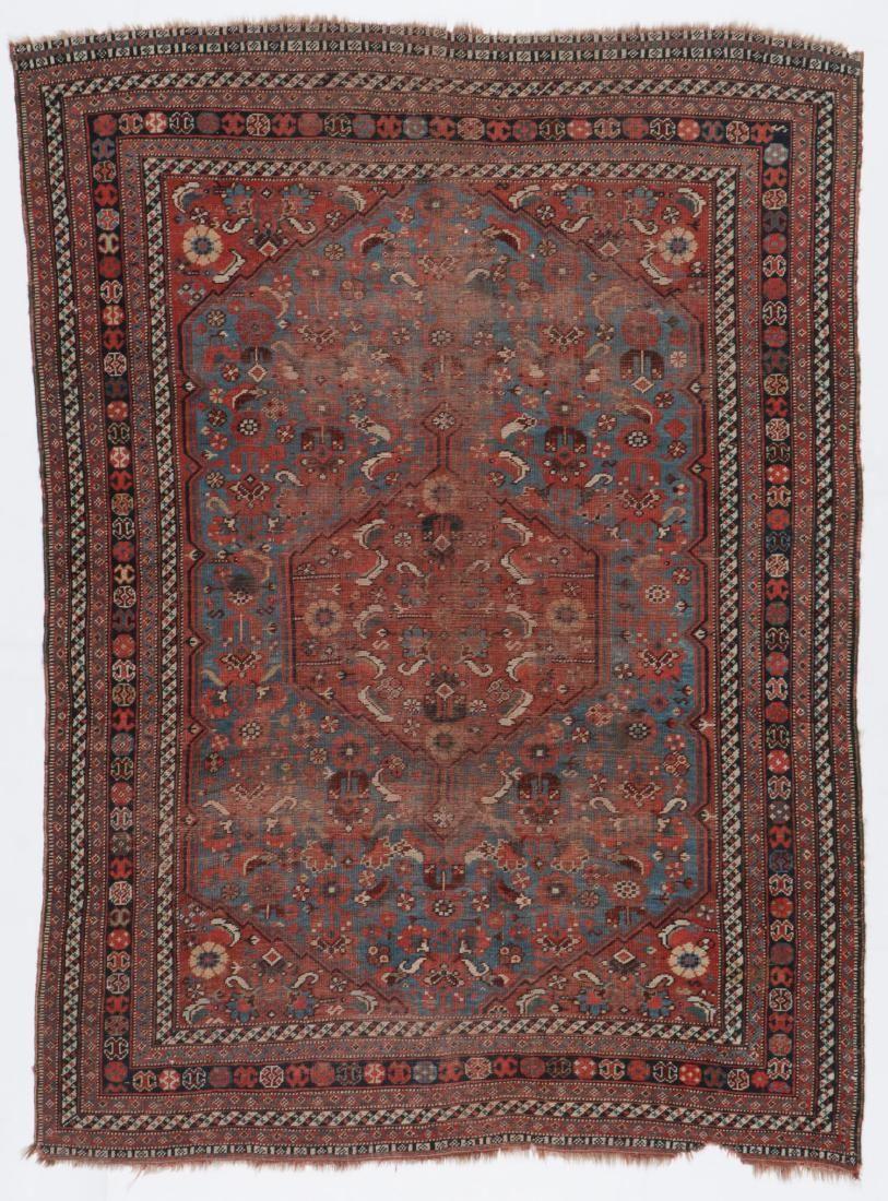 Antique Gashgai Rug, Persia: 4'9'' x 6'3''