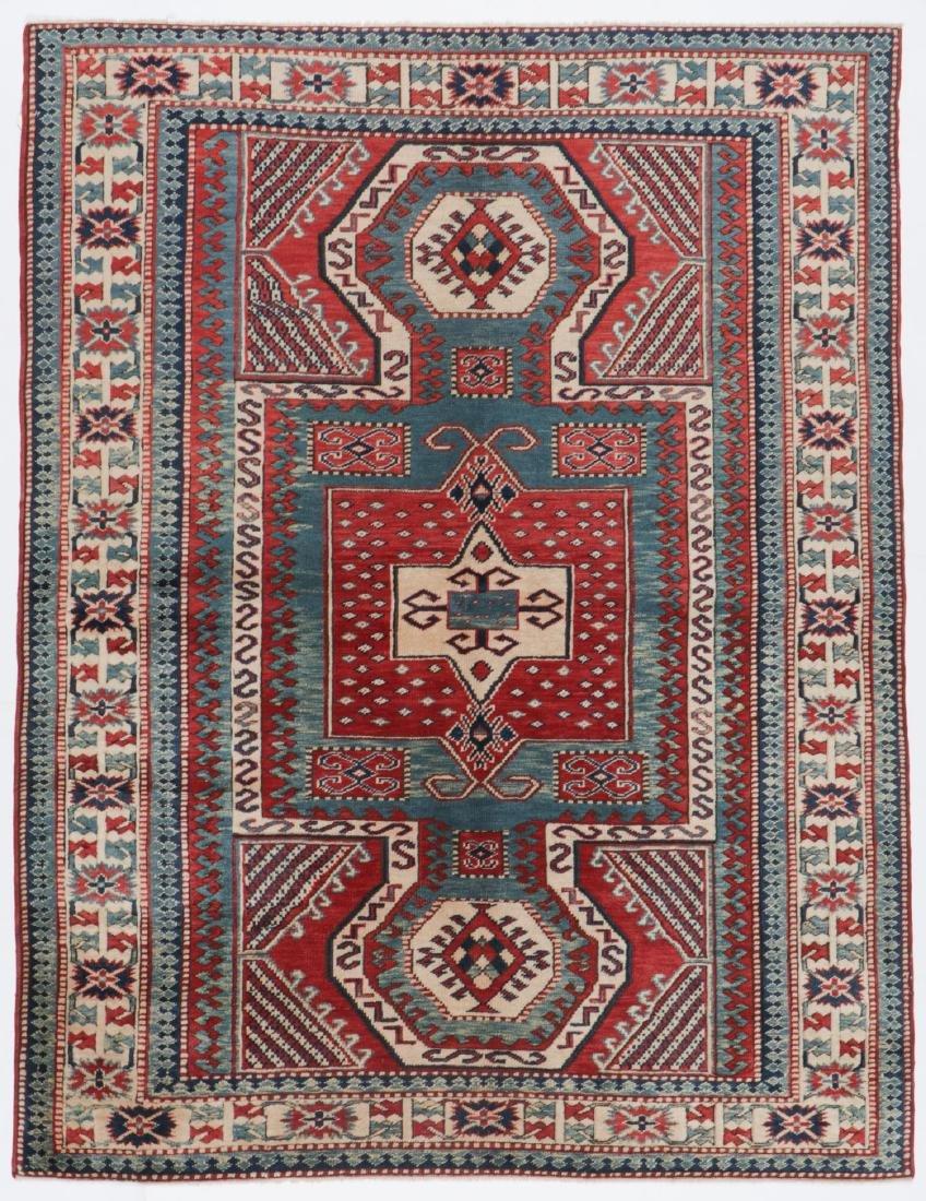 Vintage Kazak Rug, Turkey: 5'3'' x 6'11''