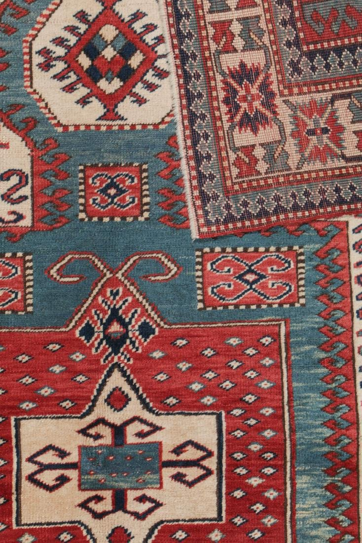 Vintage Kazak Rug, Turkey: 5'3'' x 6'11'' - 4