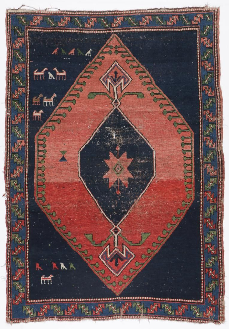Antique Kazak Rug, Caucasus: 4'6'' x 6'5''