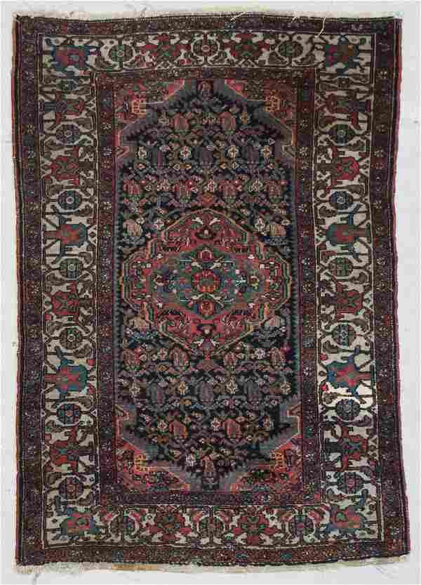 """Antique Hamadan Rug: 3'5"""" x 4'11"""" (103 x 149 cm)"""