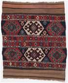 Antique Caucasian Kilim: 3'8'' x 4'4''