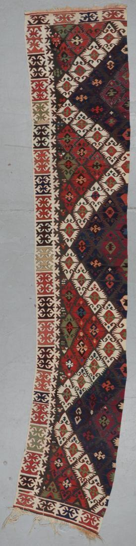 Antique Turkish Kilim Panel: 2'5'' x 12'0'' (74 x 366