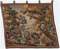 Antique Continental Tapestry, France: 4'4'' x 5'2''