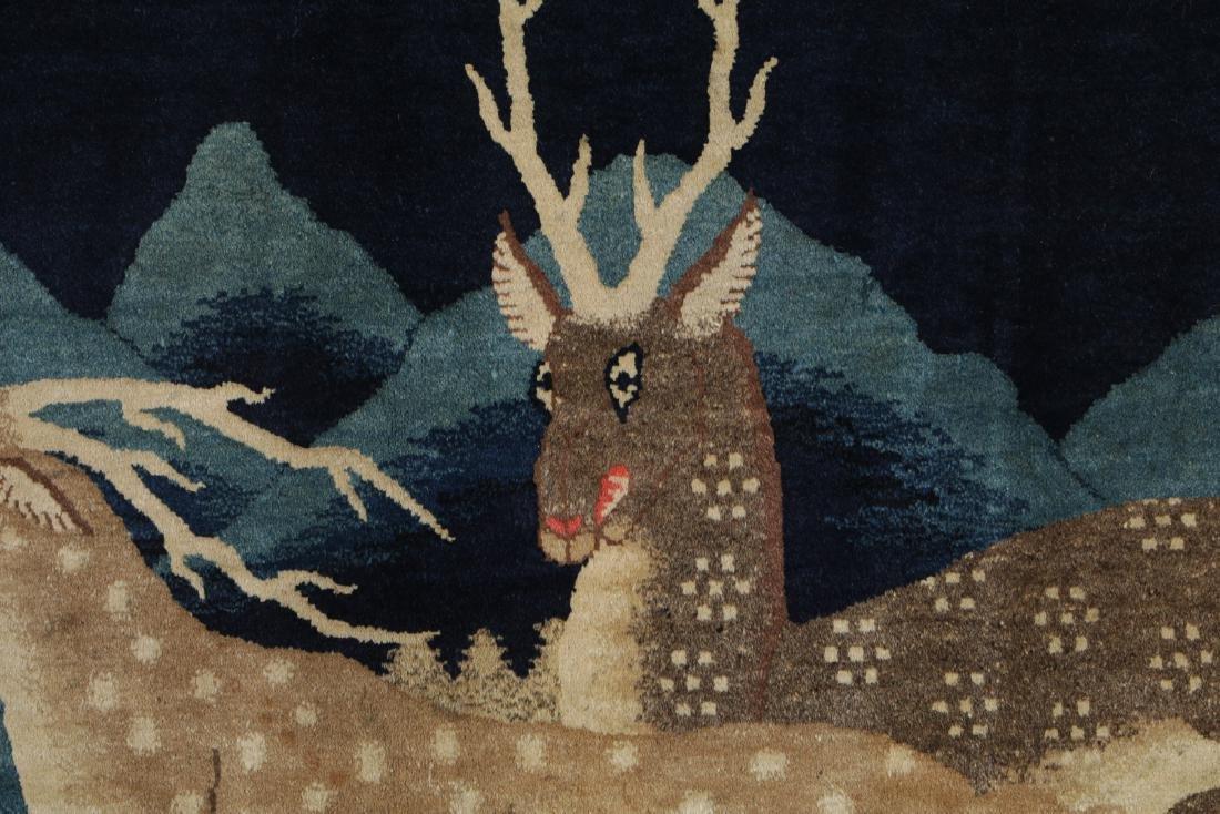 19th C. Peking Pictorial Rug, China: 8'3'' x 4'10'' - 2