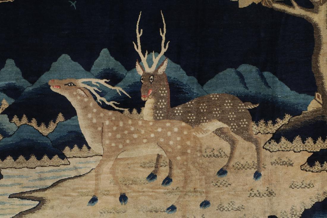 19th C. Peking Pictorial Rug, China: 8'3'' x 4'10'' - 4