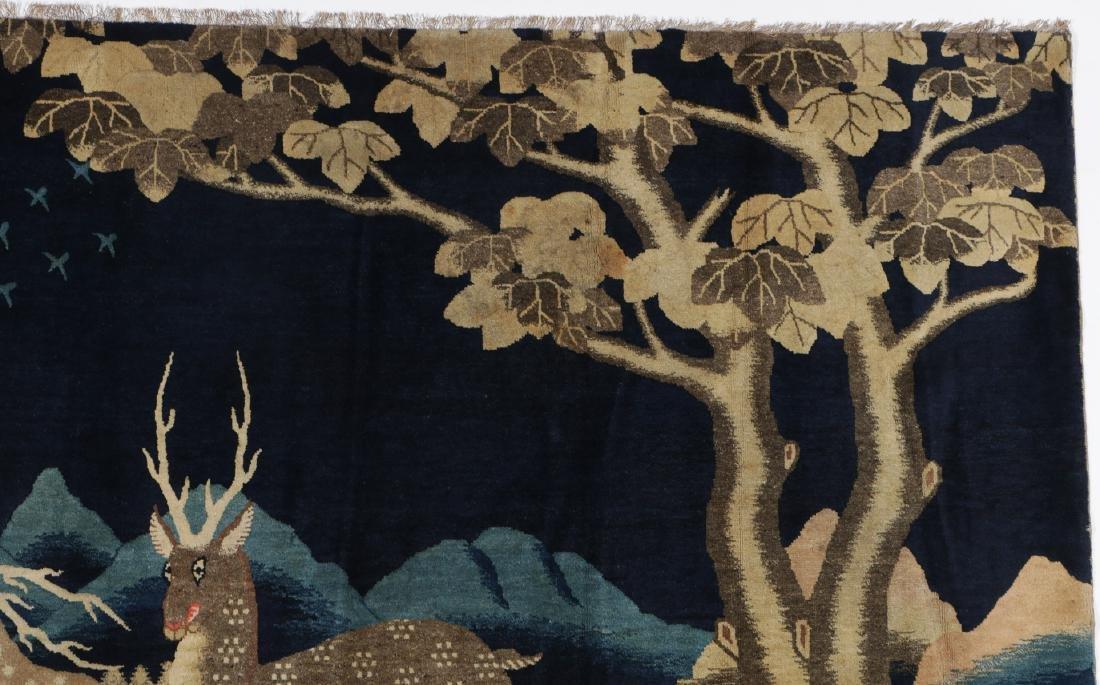 19th C. Peking Pictorial Rug, China: 8'3'' x 4'10'' - 5