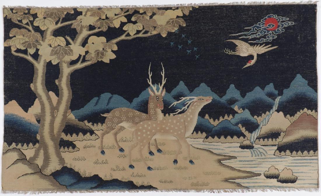 19th C. Peking Pictorial Rug, China: 8'3'' x 4'10'' - 7