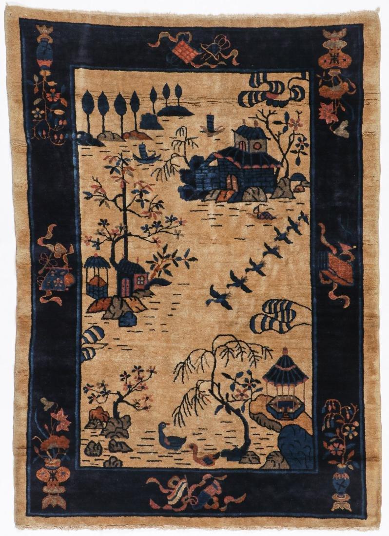 Antique Peking Rug: 4'0'' x 5'8''