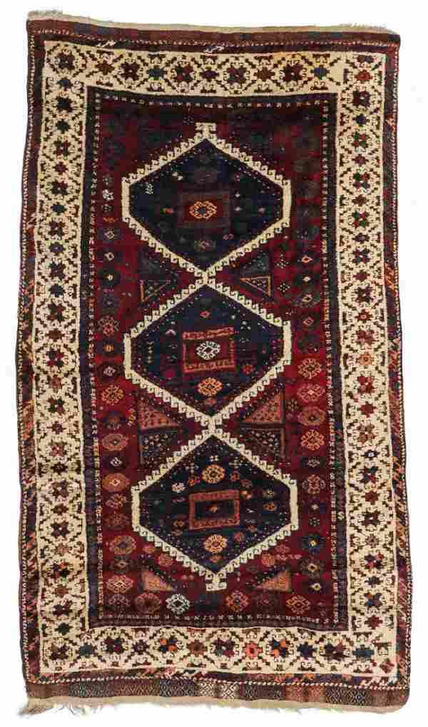 Antique East Anatolian Kurd Rug: 4'3'' x 7'5''