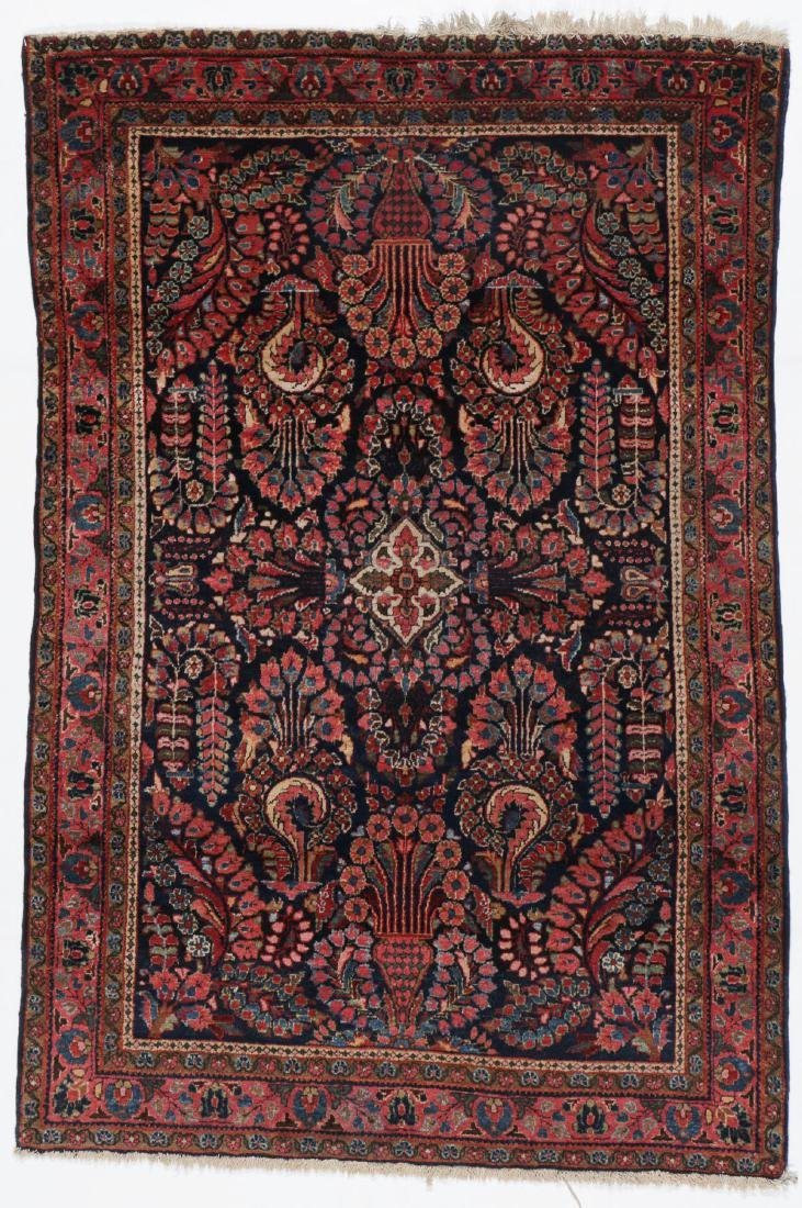 Antique Sarouk Rug: 3'4'' x 5'0''
