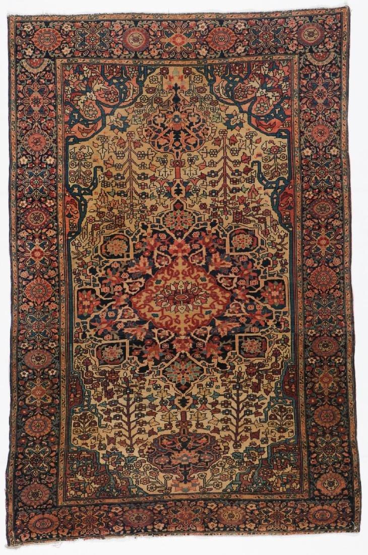 Antique Sarouk Ferahan Rug: 3'3'' x 4'11''