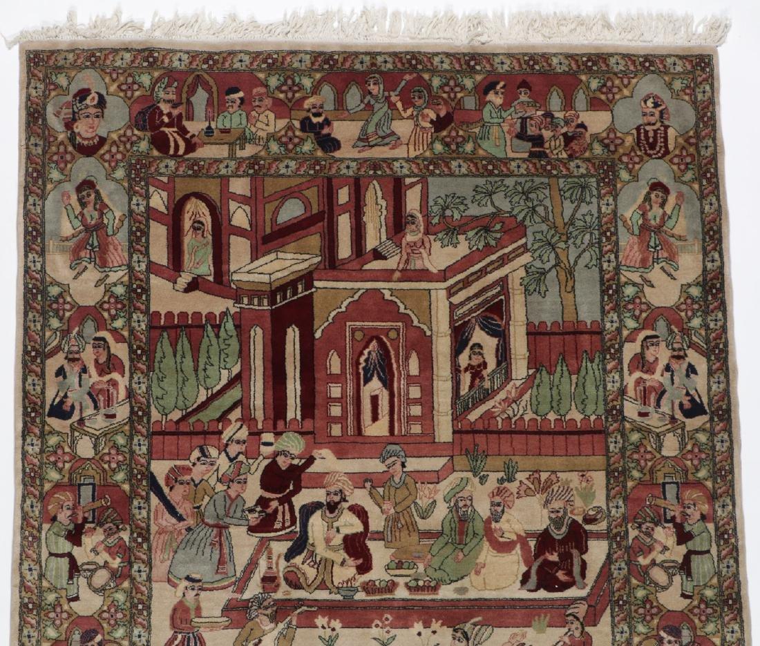 Vintage Tabriz Style Pictorial Rug, Paki: 4'7'' x 7'7'' - 4