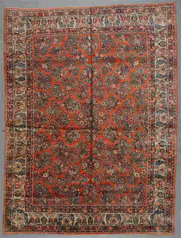Semi-Antique Sarouk Rug: 9'0'' x 11'10''