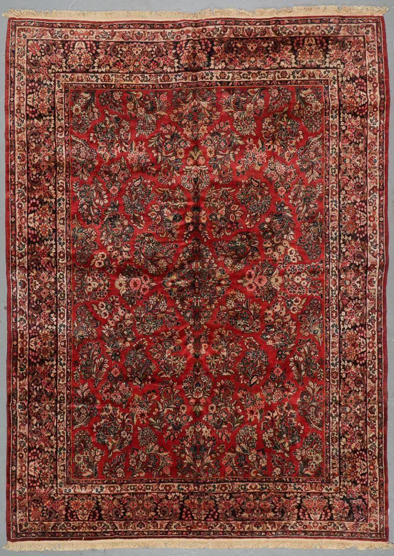 Semi-Antique Sarouk Rug: 8'9'' x 12'1''