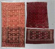 3 Antique Central Asian Rugs