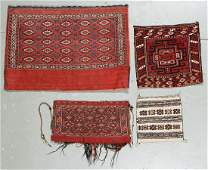 4 Old Central Asian Weavings