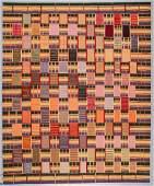 Ashanti Style Wool Kilim: 7'9'' x 9'8''