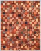 Ashanti Style Wool Kilim: 10'10'' x 13'9''
