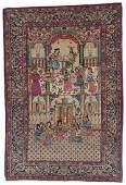 Lavar Kerman Pictorial Rug: Court of Queen Esther