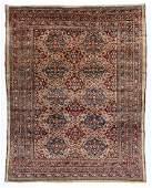 "A Fine Silk Heriz Rug, Persia, 4'6"" x 5'9"""