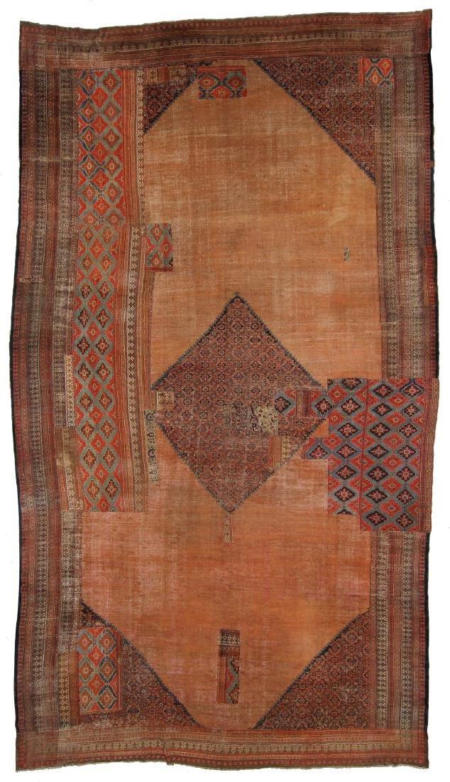 Mansion-Size Persian Patchwork Carpet, 14'7'' x 25'7''