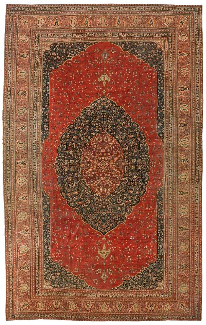 Fine Hadji Jalili Tabriz Rug, Persia, 17'10'' x 27'9''