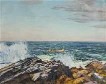 """Edward Willis Redfield (1869-1965) """"The Lobsterman"""","""