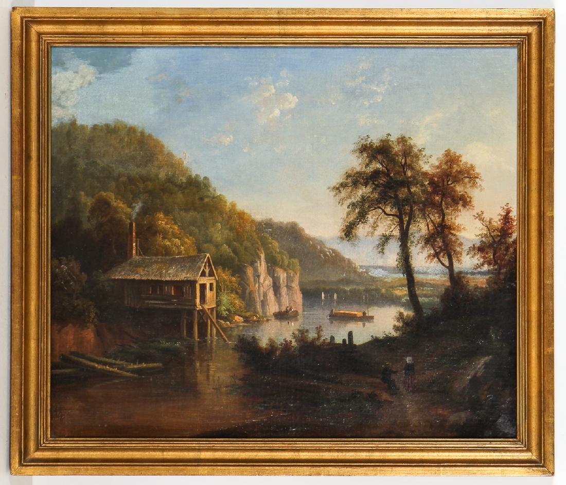 Antique American 19th c. Landscape Painting