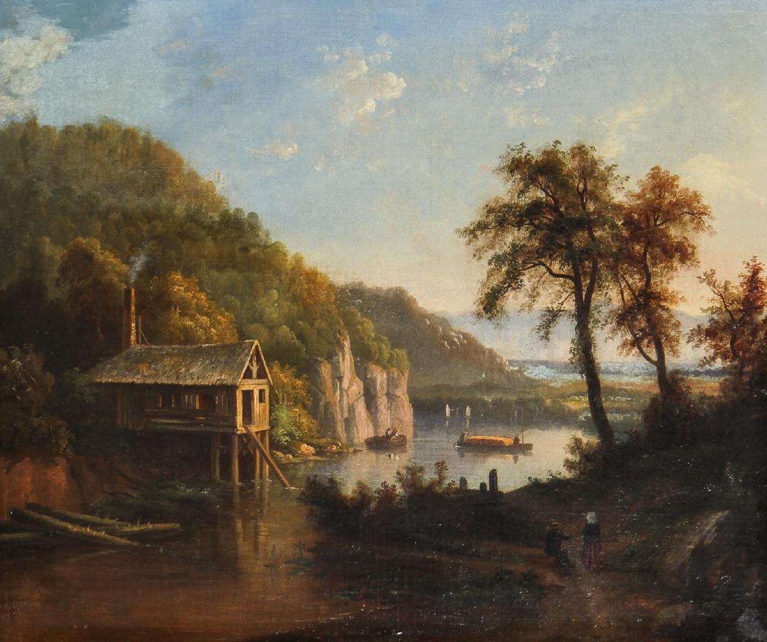 Antique American 19th c. Landscape Painting - 2