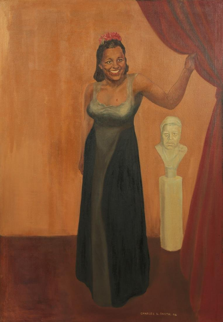 Charles L Smith (American) Portrait of Billie Holiday