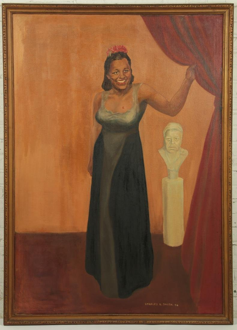 Charles L Smith (American) Portrait of Billie Holiday - 2
