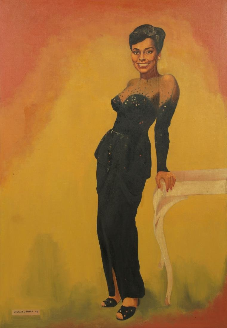 """Charles L. Smith 1946 painting """"Lena Horne"""""""