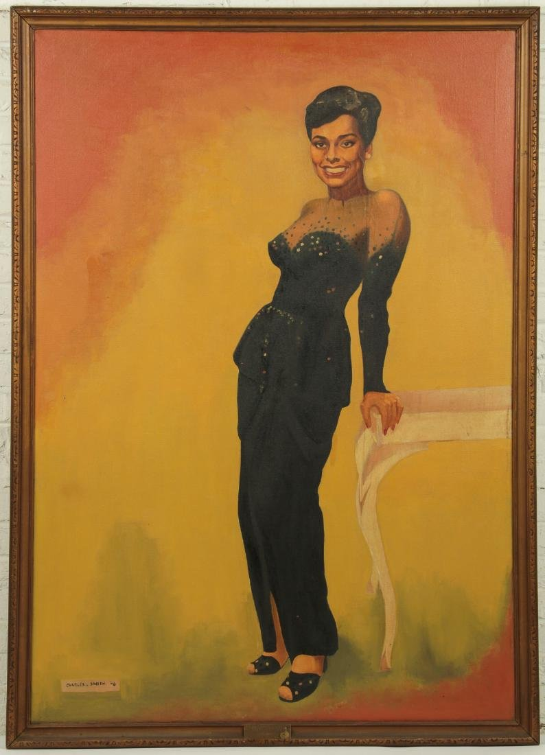 """Charles L. Smith 1946 painting """"Lena Horne"""" - 2"""