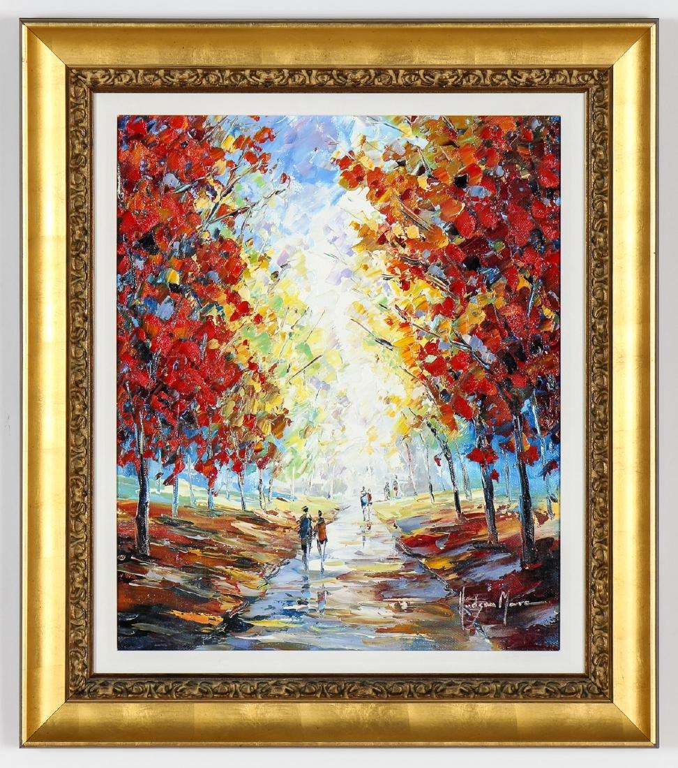 Hudson Mora (20th c.) Landscape Painting