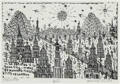 "Howard Finster (American, 1916-2001) ""City of Lampoo"""