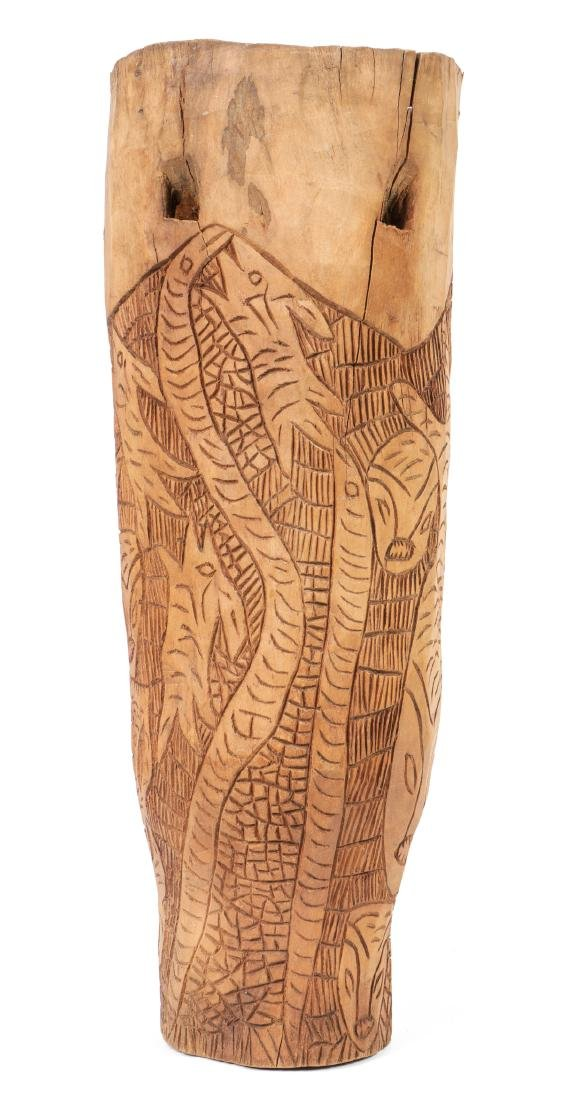 Haitian (20th c.) Carved Wood Drum